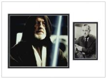 Alec Guinness Autograph Display - Star Wars